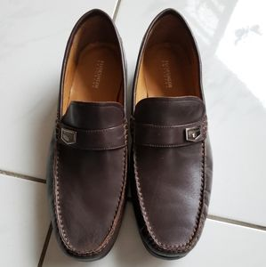 Florsheim chocolate brown penny loafers leather
